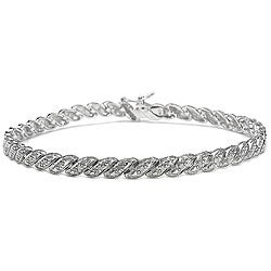 Malaika Sterling Silver 1/3ct TDW White Diamond Bracelet (J-K, I3)