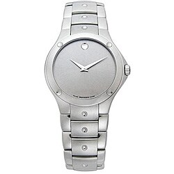 Movado S.E. Men's Silver Face Stainless Steel Watch