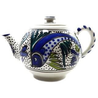 24-oz Aqua Fish Teapot (Tunesia)
