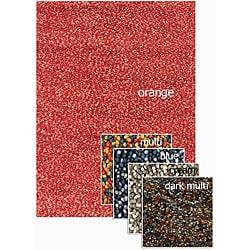 Hand-woven Dulce Shag Wool Rug (4' x 6')