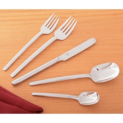 Mikasa 'Zena' 40-piece Flatware Set with Caddy | Overstock.com