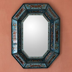 'Nautical Blue' Mirror (Peru)
