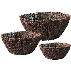 Birch Twig 3-piece Basket Set