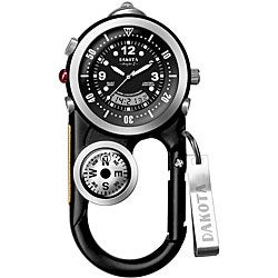 Dakota Men's Angler Black Carabiner Clip Watch