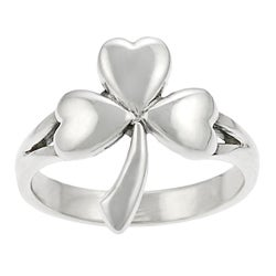 Tressa Sterling Silver Shamrock Ring