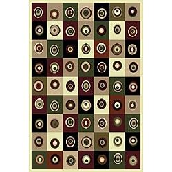 Machine-woven Circles Rug (7'8 x 10'5)