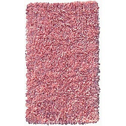 Soft Cotton Pink Shag Rug (4'7 x 7')
