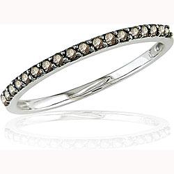 10k Gold 1/4ct TDW Champagne Diamond Ring