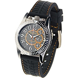 Haurex Italy Men's Promise Black Chronograph Watch