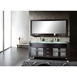 Espresso Double-sink Bathroom Vanity Set