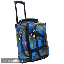 CalPak YDF021 Champ Solid 21-inch Carry On Rolling Upright Duffel Bag
