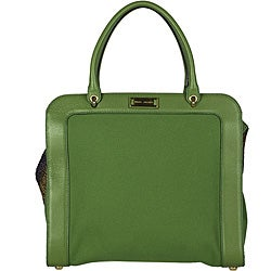 Marc Jacobs 'Penn' Leather and Canvas Satchel