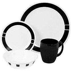 Corelle Livingware Urban Black 16-piece Dinnerware Set