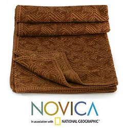 'Earth Echo' Alpaca Wool Throw Blanket (Peru)