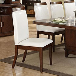 Lancaster Black Faux Leather Upholstered Dining Chair (Set of 2)
