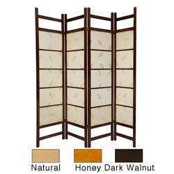 Wood 6-foot 4-panel Botanic Room Divider (China)