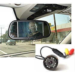 Bumper Back-up Camera with 7-inch Bluetooth Rearview Mirror