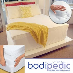 Bodipedic 2-inch Memory Foam Topper and Cotton Cover Set