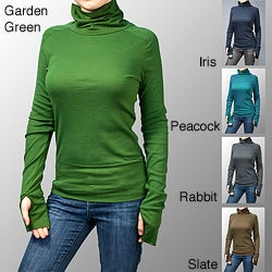 AtoZ Women's Turtleneck with Thumbholes