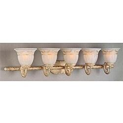 Mediterranean Series Ivory Gold 5-light Bath Light
