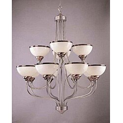 Windsor 12-light Brushed Steel Chandelier