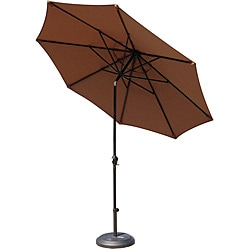 Lauren & Company Premium Woven Mocha 9-foot Aluminum Patio Umbrella with Stand
