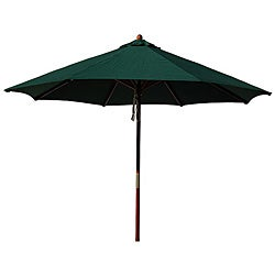 Hardwood 9-foot Hunter Green Patio Umbrella