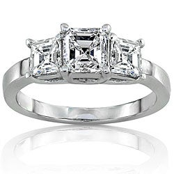 14k Gold 1 3/4ct TDW Certified Diamond Engagement Ring (F, SI1)