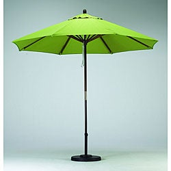 Round 9-foot Lime Green Hard Wood Patio Umbrella