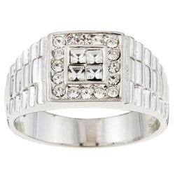 Sterling Essentials Sterling Silver Men's Cubic Zirconia Ring