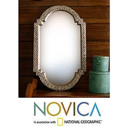 Mango Wood &#39;Palace Window&#39; Mirror (India)