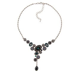NEXTE Jewelry Silvertone Blue Beaded 'Evil Eye' Necklace