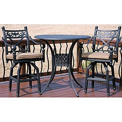 Bar Height 3 Piece Patio Furniture Set 12140102
