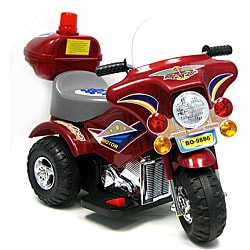 Maroon/ Red Battery-operated Ride-on Motorcycle