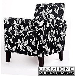 angelo:HOME Hepburn Arm Chair Charcoal Black and White Vine.