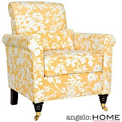 angelo:HOME Harlow Yellow and White Floral Arm Chair
