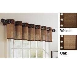 Bamboo 15-inch Grommet Top Valance