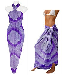Purple Haze Tie-dye Sarong (Indonesia)
