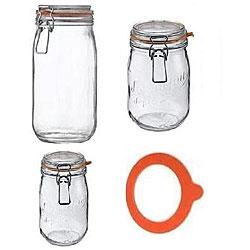 Le Parfait Glass Canning Jar and Gasket Set