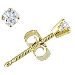 14k Yellow Gold 1/10ct TDW Diamond Stud Earrings