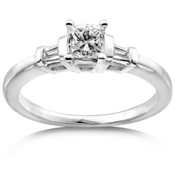 14k Gold 1/2ct TDW Princess Diamond Engagement Ring (H-I, I1-I2)