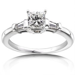 14k Gold 1ct TDW Princess Diamond Engagement Ring
