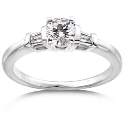 14k Gold 1/2ct TDW Round Diamond Engagement Ring (H-I, I1-I2)