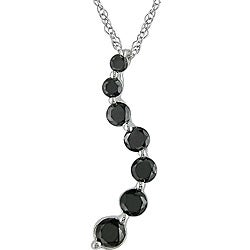 Haylee Jewels 10k Gold 1/2ct TDW Black Diamond Journey Necklace