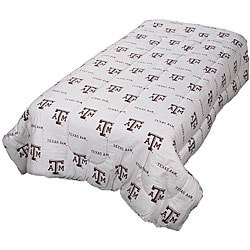 Texas A&M Full-size White Comforter Set