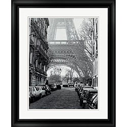 Clay Davidson 'Street View of La Tour Eiffel' Framed Art Print