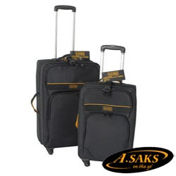A.Saks 22-inch Expandable Spinner Carry-on with Suiter