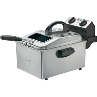 Waring Pro DF250B Deep Fryer Brushed Stainless Steel