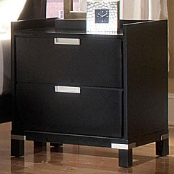 Noho Gallery 2-piece Black Nightstand Set