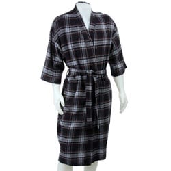 Majestic International Men's Plaid Flannel Robe